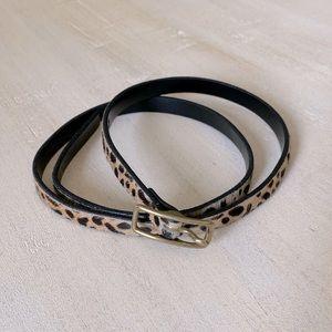 J. Crew genuine Italian leather animal print belt